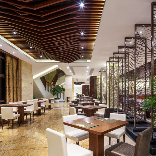 Hotel restaurants should offer an ambience compatible with the hotel.