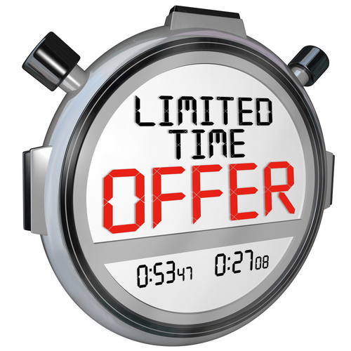Limited-time offer advertisements can draw the eye of both new and returning customers